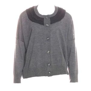 Piazza Sempione Grey Wool Cardigan